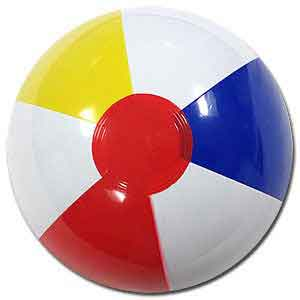Clearance - 6'' Traditional Red Dot Beach Ball