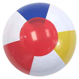 6'' Traditional Red Dot Beach Balls