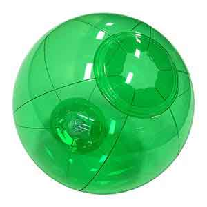 6'' Translucent Green Beach Balls