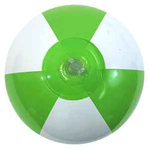 9'' Lime Green & White Beach Balls