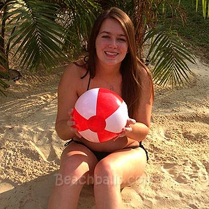 9'' Red & White Beach Balls