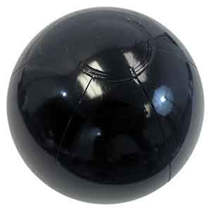 9'' Solid Black Beach Balls