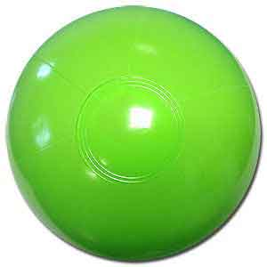 9'' Solid Lime Green Beach Balls