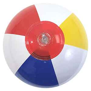9'' Traditional Red Dot Beach Balls