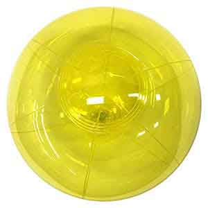 9'' Translucent Yellow Beach Balls