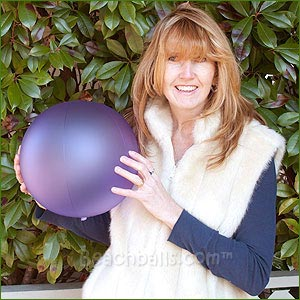 16'' Purple Shimmer Beach Balls