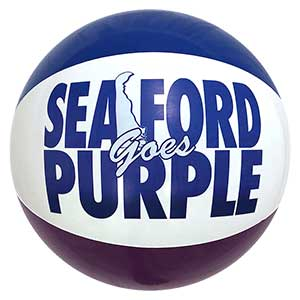 24'' Seaford Goes Purple Beach Ball