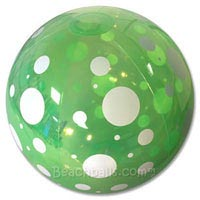 20'' Green Spotted Beach Ball