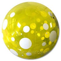20'' Yellow Spotted Beach Ball