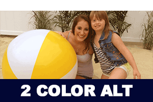 Two Color Beach Balls