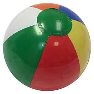 10'' Multi-Color Dark Green Dot Beach Balls