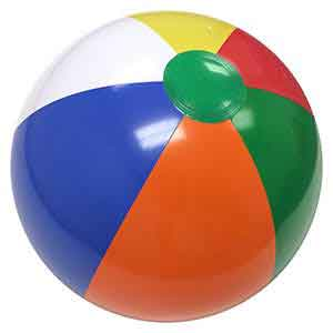20'' Multi-Color Green Dot Beach Balls