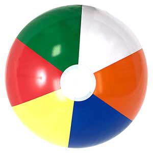 24'' Multi-Color Beach Balls