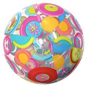 24'' Lively Print Beach Balls Fun Circles