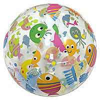 24'' Lively Print Beach Balls Sea Creatures