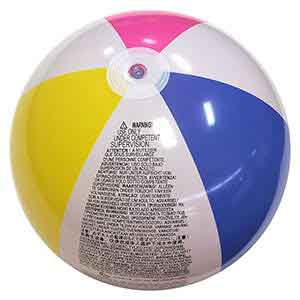 24'' Traditional Pink Beach Balls
