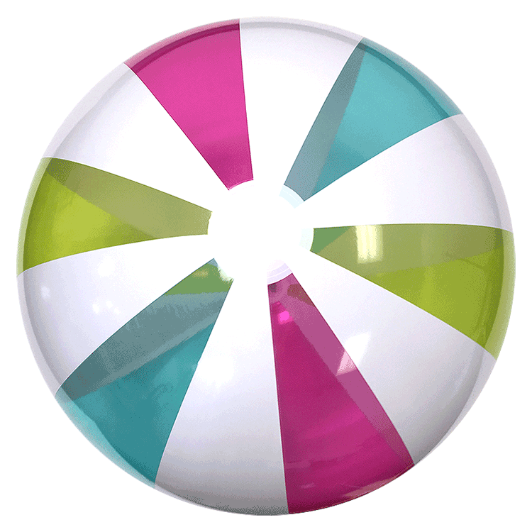 Beach Balls from Small to Giants - 42-inch Classic Rainbow ...