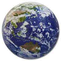 36'' Diameter Astro Earth Globe Beach Balls