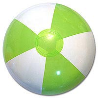 16'' Lime & White SE Beach Balls