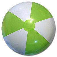 Clearance- 24'' Lime & White SE Beach Balls