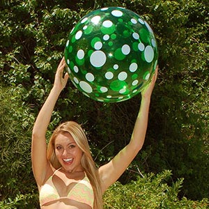 22'' Green Polka Dot Beach Balls