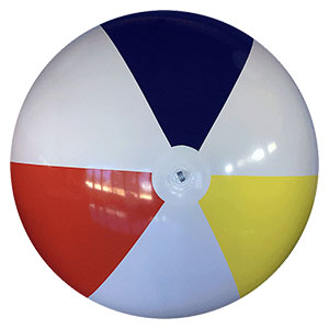 10-FT Deflated Traditional P7 Beach Ball