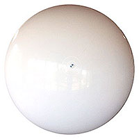 10-FT Deflated Solid White P7 Beach Balls