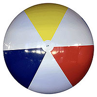 12-FT Deflated Traditional P7 Beach Ball