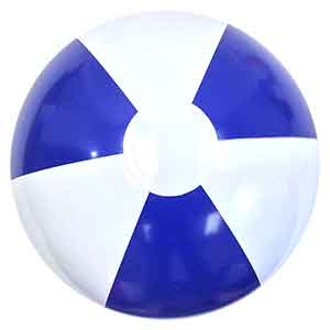 12'' Blue & White P7 Beach Balls