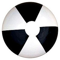 12'' Black & White SE Beach Balls