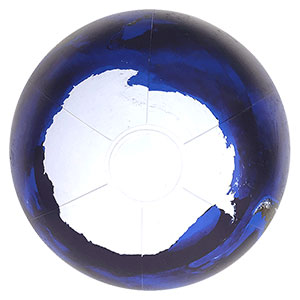 16'' Diameter Imperfect Blue Marble Beach Ball