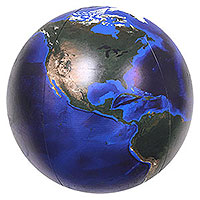16'' Dia. Imperfect Blue Marble Beach Ball
