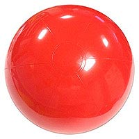 24'' Solid Red P7 Beach Balls