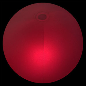 24'' Red LED Glowing Beach Balls