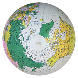 24'' Diameter Political Globe Beach Balls