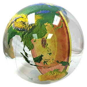 34'' Diameter Earth Core Beach Balls