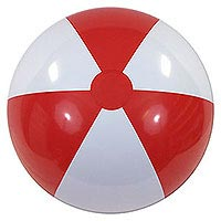 36'' Red & White P7 Beach Balls