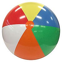 6-FT Deflated Size Multicolor Beach Ball