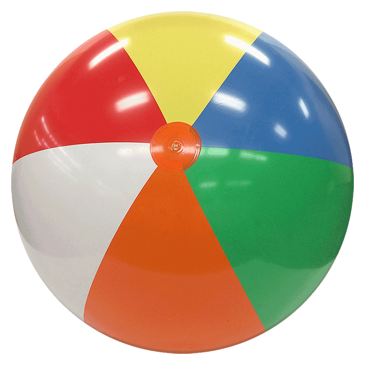 Beach Balls from Small to Giants - 6-FT Deflated Size ...