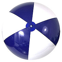 6-FT Blue & White P7 Beach Balls