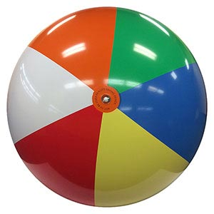 8-FT Deflated Size Multicolor Beach Ball