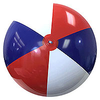 6-FT Red White Blue P7 Beach Balls