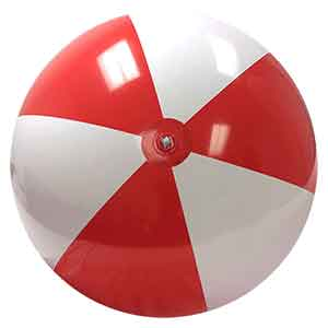 6-FT Red & White P7 Beach Balls