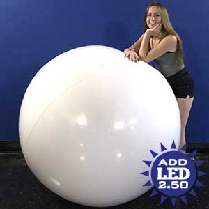 6-FT Deflated Solid White Beach Ball 2.5