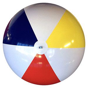 6-FT Deflated Traditional P7 Beach Balls