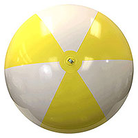 6-FT Yellow & White P7 Beach Balls