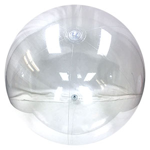 10-FT Deflated Clear P7 Beach Balls