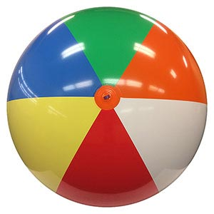 10-FT Deflated Size Multicolor Beach Ball