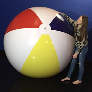 8-FT Deflated Traditional P7 Beach Balls