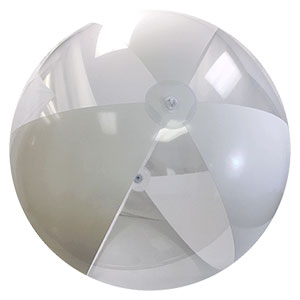 8-FT Deflated Clear & White P7 Beach Balls